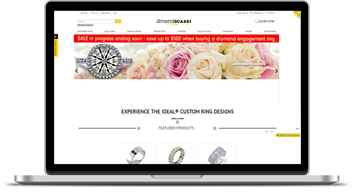 dimendSCAASI Jeweler Website Challenges