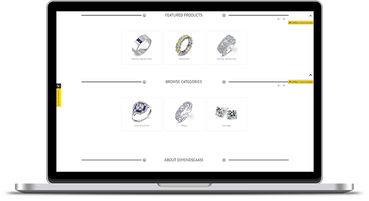 dimendSCAASI Jeweler Website Features
