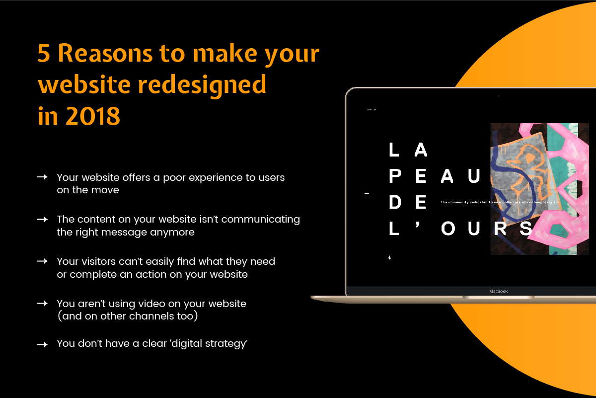5 reasons to make your website redesigned in 2018 | WebClues Infotech