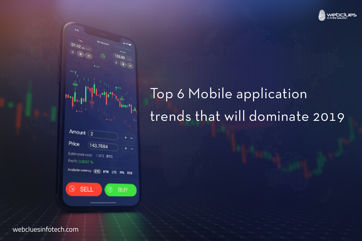 Top 6 Mobile application trends that will dominate 2019 | WebClues Infotech